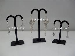 Earring Display Stands Wholesale Wholesale Free Shipping 100pcslot Black Acrylic Earring Tree 5