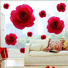 Small Picture Elegant Red Rose Flower Wall Sticker Decals Removable Home Decor