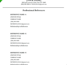 Resume References Format Gorgeous Resume References Samples Format For Resume References Resume