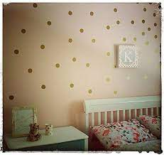 gold polka dot stickers gold wall