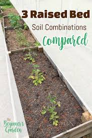 3 raised bed soil mixes compared the