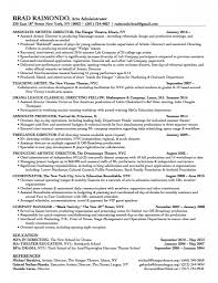 Leadership Resume Leadership Résumé Brad Raimondo Director Teaching Artist 12