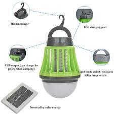 China Lage Prijs Ipx6 Waterdichte Zonne Mosquito Killer Camping Lamp