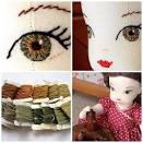 Вышиваем глаза кукле тильде