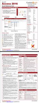 access cheat sheet free access 2016 quick reference card http www customguide com