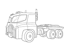Optimus Prime Bot Coloring Pages For Kids Printable Free Rescue