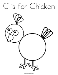 Small Picture C is for Chicken Coloring Page Twisty Noodle