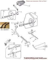 diagram reference 21 puch pedal crank parts