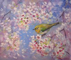 flower paintings handmade livemaster handmade oil painting cherry blossom