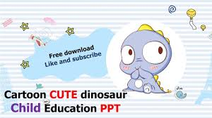 Cute Template Cute Cartoon Little Dinosaur Template Powerpoint Free Download