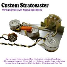 deluxe pre wired stratocaster strat wiring kit neck bridge image 1