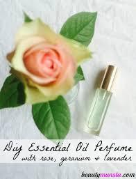 essential oil perfume spray recipe with rose geranium lavender