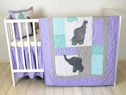 baby quilt elephant blanket teal purple gray crib bedding safari nursery