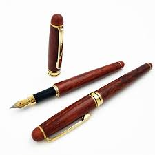 luxury flower pear gany fountain pen iraurita creative red wood um writing pens gifts stationery