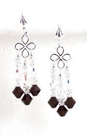 mary jean s garnet crystal chandelier earrings