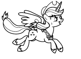 Small Picture My Little Pony Applejack Running Coloring Page Download Print