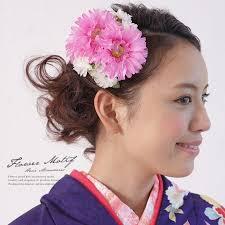 髪飾り 成人式 振袖向け 浴衣向け 七五三 結婚式 ピンクマゼンタ 花冠 花