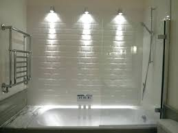 shower niche lighting shower niche lighting consider wall lights to make a feature of the tiles