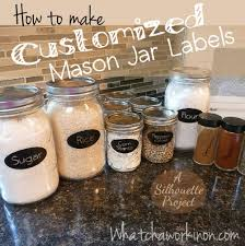 How to make kitchen labels for mason jars and spice jars. Download  ready-made
