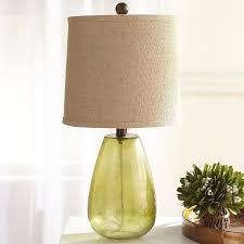 alana er glass table lamp base indigo pottery barn
