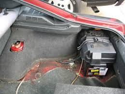 cheap battery relocation setup zilvia net forums nissan 240sx for the neg gound i found the shock tower is most effective