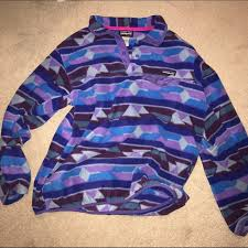 Patagonia Patterned Fleece Best Patagonia Jackets Coats Patterned Pullover Fleece Poshmark