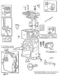 Briggs and stratton parts diagram 3 h p tiller engine model