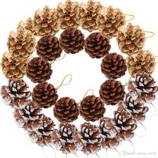 2019 pine cones ornament natural pinecones string pendant crafts gift tag tree party hanging decorationmulti color 27 pack from meetyou520 11 03 dhgate