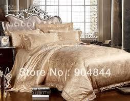 gold color luxury silk jacquard bedsheet set bedding set wedding bed linen duvet cover set golden bedding sets 4pcs gold duvet cover sets wedding bed linen