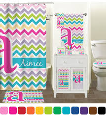 Colorful Chevron Bathroom Accessories Set Personalized  Potty Colorful Bathroom Sets