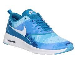 nike 8 5. womens nike air max thea light blue white print trainers size 8 5