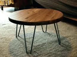 rustic coffee table kijiji edmonton wood round legs elegant vintage industr