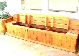 cedar storage bench plans outdoor kitchen wonderful of custom garden benches deck st wood lined diy cedar storage bench chest plans