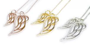 diamond angel wing necklace brinker s