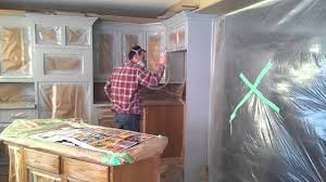 Paint Sprayer Kitchen Cabinets How To Prep And Spray Kitchen Cabinets Youtube