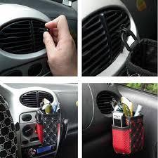 air storage box bag holder car seat organizer catcher space universal red black check pu leather diono car organizer diy back seat car