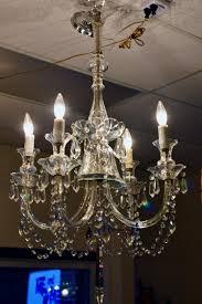 four arm crystal chandelier