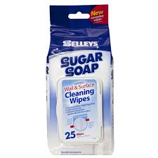 new eys sugar soap wall and surface cleaning wipes 25 pack paint stains 9300697123596
