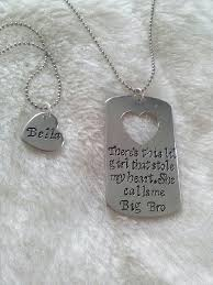 Big Brother, Little Sister Gift Hand Stamped Dog Tag Necklace SET ...