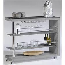 Contemporary Bar Cart w/ Stem Glass