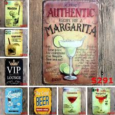 2018 Vintage Metal Tin Signs For Wall Decor <b>Mojito</b> Beer Iron ...