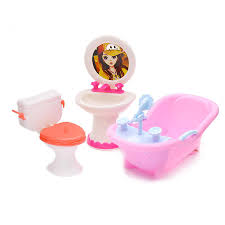 doll furniture toy toilet bathtub bath bathing bowl toilet can flip wash basin sink bathroom doll accessories for doll kids toy doll and accessories doll