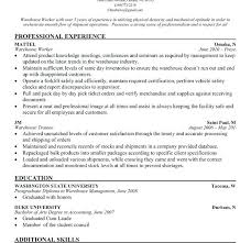 Resume Examples For Warehouse Associate Best of Decoration Warehouse Job Resume Warehouse Worker Resume Download