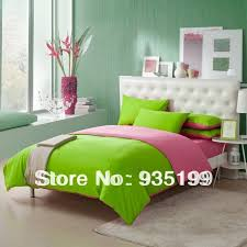 bold design pink green comforter sets free 100 cotton shads and apple set bedding duvet cover flat sheet