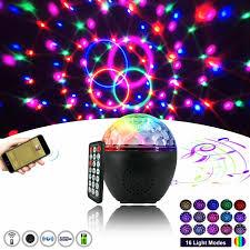 16 Color Led Stage Lights Bluetooth Speaker Crystal Magic Ball Light Usb 5v Tusa