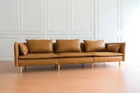 orange sofa ikea leather couch