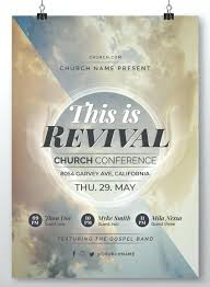 008 Best Church Flyer Templates Revival Template Free