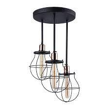 arm semi flush ceiling light black