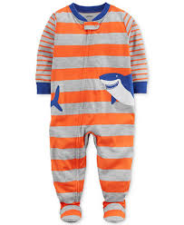 carter s shark stripe print cotton pajamas baby boys pajamas  image 1 of carter s shark stripe print cotton pajamas baby boys