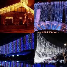 outdoor fairy lighting. Outdoor Garden LED Curtain Fairy Lights 4 Colours Lighting